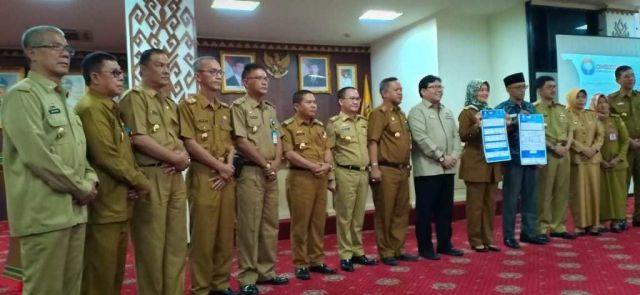 Pemerintah Kabupaten Pringsewu Melakukan Penandatangan Nota Kesepahaman Penggunaan Aplikasi Lapor SP4N